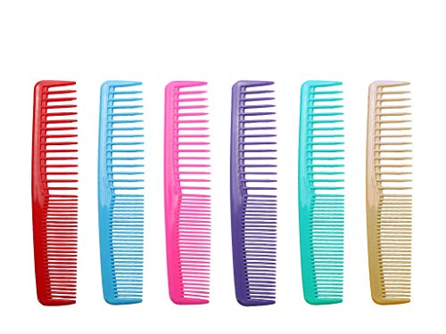 QITIMIR Daisy Hair Comb Set 6 Colors in Pack Hair Combs For Women and Men and Kids