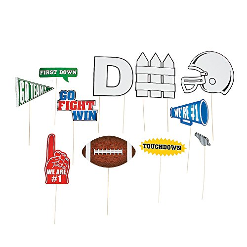 OTC Football Team Sports Party Photo Picture Booth Prop Sticks - 12 pieces -