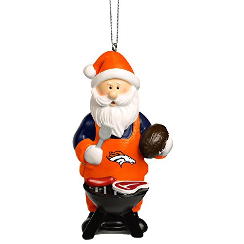 Forever Collectibles NFL Christmas Holiday Santa Grill Ornament-Denver - Ornaments Holiday Nfl