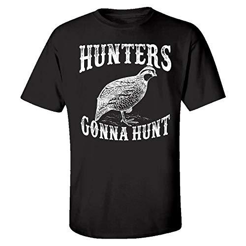 - Funny Quail - Hunters Gonna Hunt - Bird Wings Feathers Beak Flying Humor - Kids T-Shirt Black