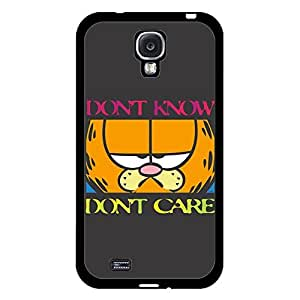 Unique Design(TM) Samsung Galaxy S4 Case Cover Ballistic Disney Cartoon Anime Comics Character Garfield Hard Tpu Slim Fit Rubber Hybrid Black Protective Snap on Accessories for Girls