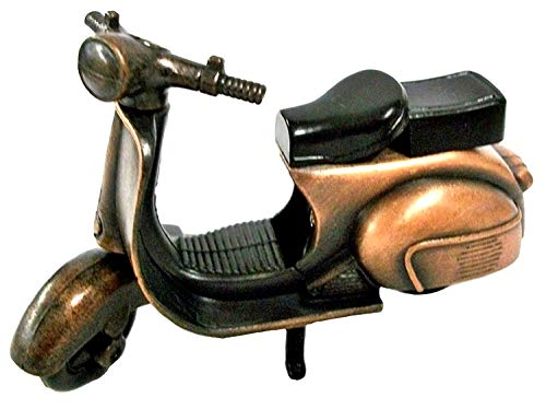 Rare Metal Die Cast Bronze Scooter Vespa Miniature Pencil Sharpener - Metal Toy Scooter - Collectible Scooter Bike Figurine