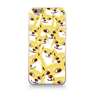 iPhone 6S/6 Case(4.7inch),Blingy's® Funny Animal Series TPU Bumper+Aesthetic Print Hard PC Back Cover Protective Flexible Case for iPhone 6S/6 (Doge Phone Cover)