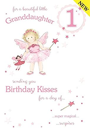 Beautiful granddaughter age 1 large luxury 1st birthday card beautiful granddaughter age 1 large luxury 1st birthday card bookmarktalkfo Gallery