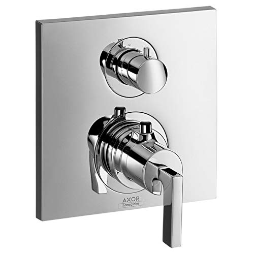 Collection Lever Handle Tub - AXOR Citterio Thermostatic Trim with Volume Control, Lever Handle