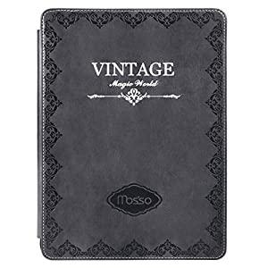 MOSISO 2018 iPad Pro 11 inch Case,Vintage Retro Protective Cover PU Leather Stand Folio Shell with Auto Wake/Sleep Function Compatible with iPad Pro 11 (1st Gen. A1980/A2013/A1934/A1979), Gray