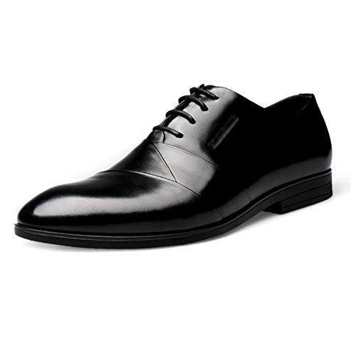 Formale Männer Classic Shoe Handgefertigte Leder Soled Hochzeit Oxford Fashion Lace-up Spitz Lederschuhe Black