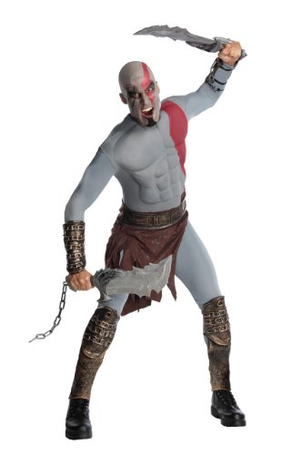 God of War Adult Kratos Muscle Chest Costume with Gauntlets, Multicolored, X-Large (2)