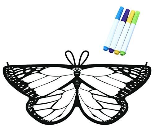Kids Coloring for Butterfly Wings Crafts Fairy Wings Halloween Masquerade Costumes for Little Girls -