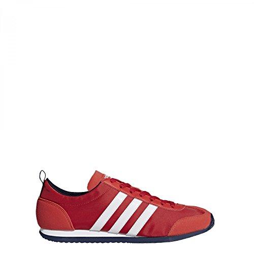 adidas Vs Jog, Zapatillas Para Hombre Rojo (Rojbas/Ftwbla/Maruni 000)