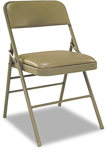 Deluxe Folding Chairs in Taupe - Set of 4