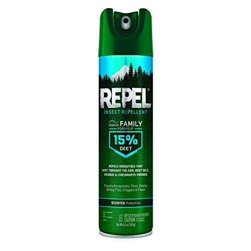 Repel Insect Repellent Scented Family Formula 15% DEET, Aerosol, 6.5-Ounce, 6-Pack (Formula Family Insect Repellent)