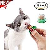 SEALEN Cat Treats Sugar Ball, Pet Cat Snacks Catnip Isinglass Candy, Solid Nutrition Gel Energy Ball Cat Toy 4 Pack