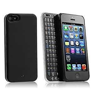 ZL Sideslip Bluetooth 3.0 Keyboard with Case for iPhone 5 (Assorted Color) , Black