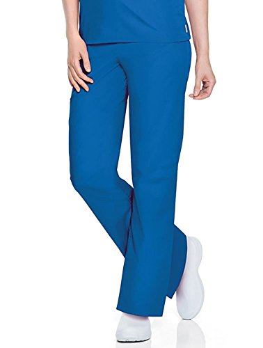 Scrub Zone Professional Medical 2-Pocket Drawstring Scrub Pant, Royal, - 2 Pants Pocket