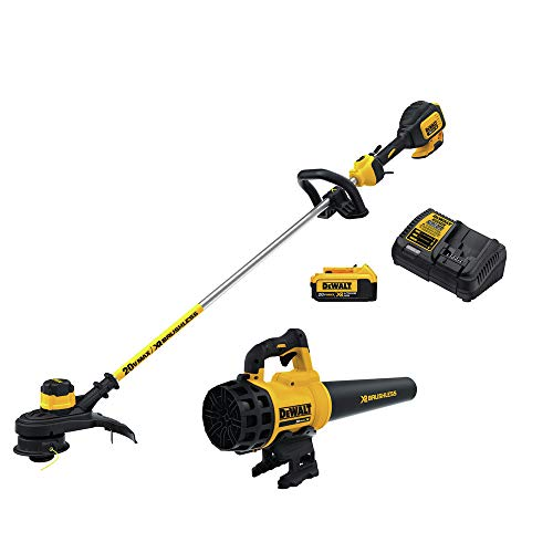 Dewalt DCKO97M1R 20V MAX Lithium-Ion Cordless String Trimmer and Blower Combo Kit (Renewed)