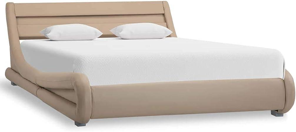 vidaXL Polsterbett LED Anthrazit 160x200cm Kunstlederbett Bett Doppelbett