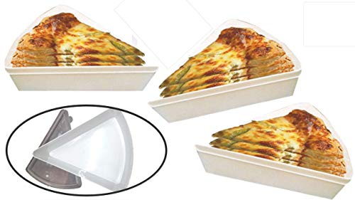 (Pizza Container - Slice Container - Like Pizza Tupperware - (3 Pack) - Saves a Ton of Money on Wraps Bags and Foils for Your Leftover Pizza Slices - Plastic Pizza Box - Pizza Slice Storage)