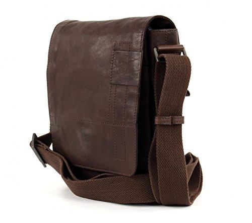 Bag Dark Upminster Shoulder 20 Cm Strellson Brown braun Leather azqnxp