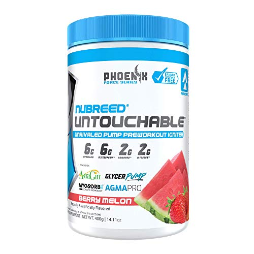 Nubreed Untouchable | Nitric Oxide Booster to Support Intense Pumps, Performance & Vascularity | Healthy & Safe for Men & Women |Banned Substance Free | Zero Dyes or Colors