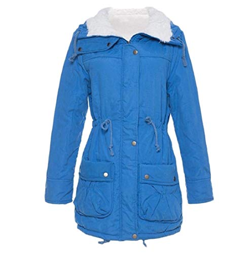 Blue AngelSpace Coat Plus Casual Wadded Cotton Size Lake Outwear Women's Jacket grgwqv
