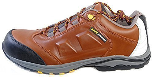 Dickies Mens Murcia Safety Lightweight Trainer Work Shoe Metal Free Non-metallic Composite Toecap & Non-Metallic Midsole Guarded Toe Area Padded collar and tongue Workwear FC9500 Tan Os11rpx