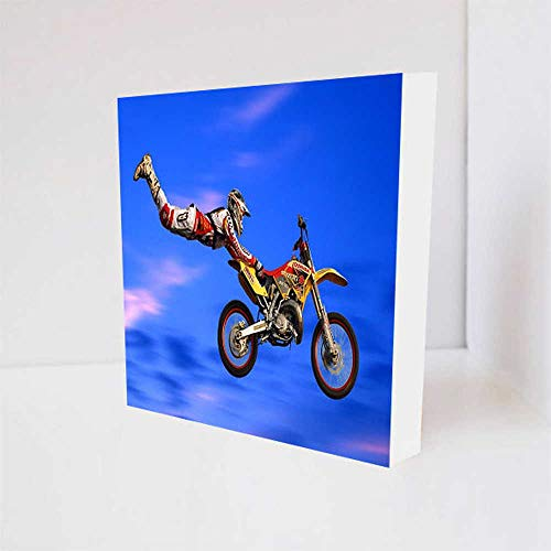 Quadro Decorativo - Motocross Superman - Tag 16x16