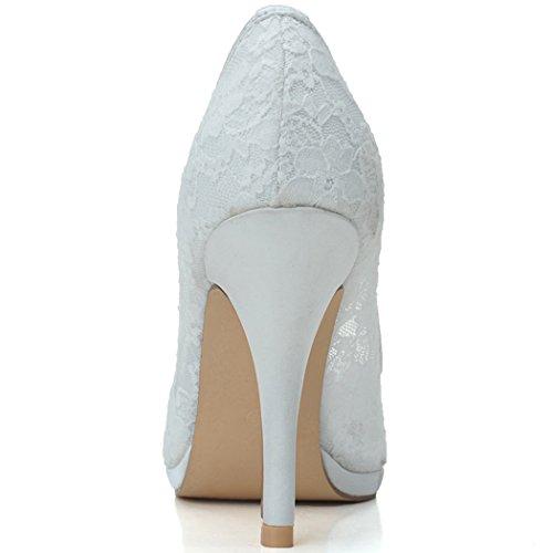 Chaussures 30a De Szxf0255 Sarahbridal Rose Mariée Escarpins Femmes Uk Mariage De 7 Dentelle Uk 4 De 5 gvqprg