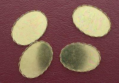 4 25x18 OVAL VINTAGE ANTIQUE GOLD BEZEL LACE ()