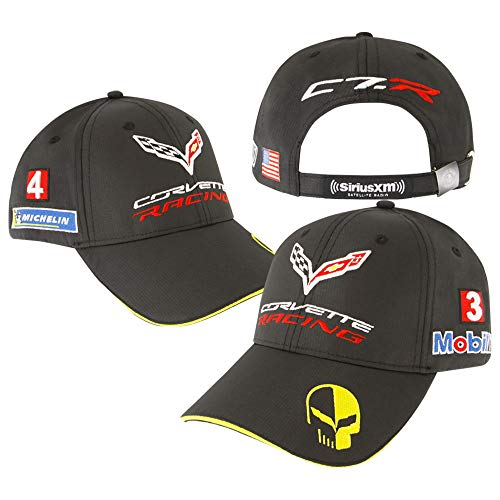 C7 Corvette Racing Jake Team Hat/Cap - Embroidered : Black