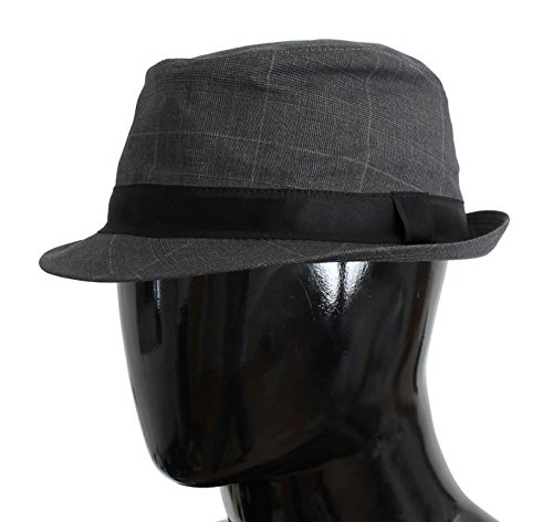 Dolce & Gabbana Gray Cotton Logo Fedora Trilby - Hat And Gabbana Dolce