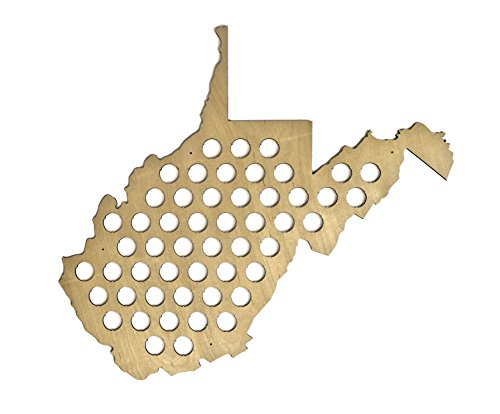 All 50 States Beer Cap Map   West Virginia Beer Cap Map Wv   Glossy Wood   Skyline Workshop