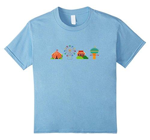 Toddler Ringmaster Costumes (Kids Carnival Circus Emoticon Shirt Tents Tshirt Ferris wheel Tee 6 Baby Blue)