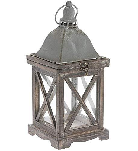 Cheap Park Hill 14″ x 6″ Rustic Style Wood Lantern