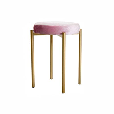 Astonishing Z Stool Ottoman Upholstered Seat Foot Stool Iron Art Round Andrewgaddart Wooden Chair Designs For Living Room Andrewgaddartcom