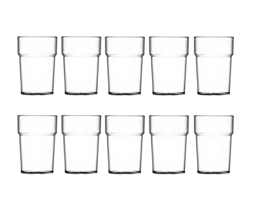 10 HDIUK - Nonic Elite Unbreakable Poly-carbonate Drink cups (1/2 Pint...