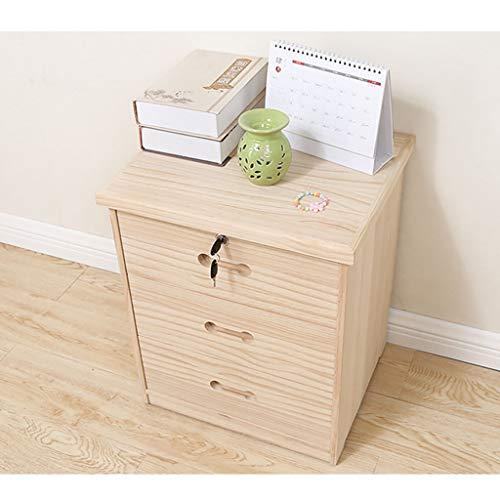 Nightstands Solid Wood Bedside Table Locking Locker