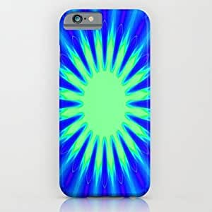 Society6 - Aqua Starburst iPhone 6 Case by 2sweet4words Designs