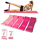 Cabepow Resistance Loop Bands Set - Resistance Exercise Bands Unique Color Natural Latex Workout Bands for Home Fitness, Crossfit, Stretching, Strength Training, Physical Therapy, Yoga