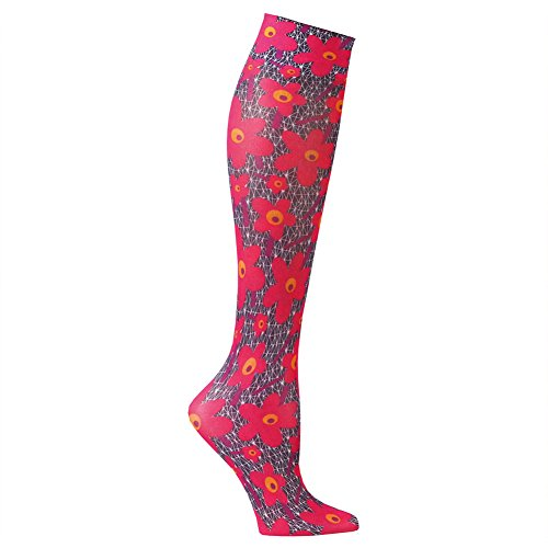 (Women's Printed Mild Compression Wide Calf Knee High Stockings - Women's - Poppies)