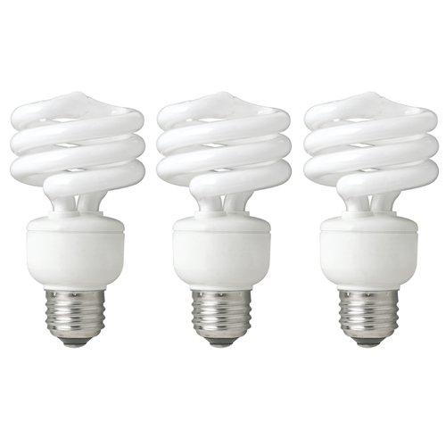 Cfl Spiral 19w (TCP 8010193 - 19 Watt Compact Fluorescent Spiral Light Bulb, 2700K, 3 Pack)