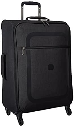 Delsey Luggage Dauphine 23 Inch Spinner Trolley, Black, One Size