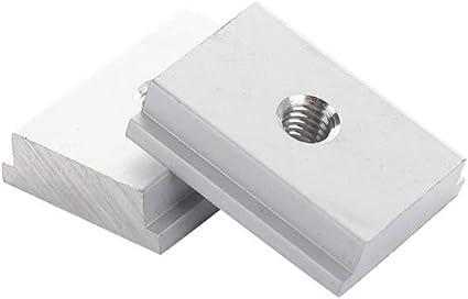 belupai 10 piezas M6 T-Track Tuerca deslizante T Ranura Tuerca para herramienta de carpinter/ía Sujetador de ranura