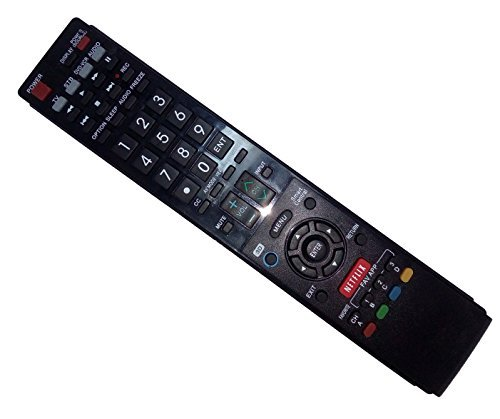 Replaced Remote Control Compatible for Sharp LC60LE857U LC-60LE650U LC-52LE832U LC-52LE810UN LC-70LE835U LC46LE832U AQUOS LED LCD HD TV with NETFLIX 3D Button
