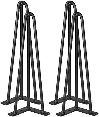 Vinteky Set de 4 Patas de Acero Robustas para Mesa y Mueble Patas ...