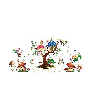 Wall Decor Wall Stickers Flower Fairy PVC Wall Stickers Wall Decals - 3