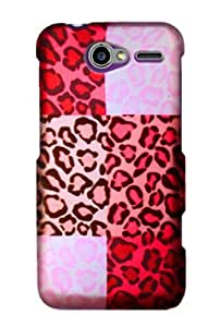 Graphic Rubberized Shield Hard Case for Motorola Electrify M - Exotic Cheetah (Package include a HandHelditems Sketch Stylus Pen)