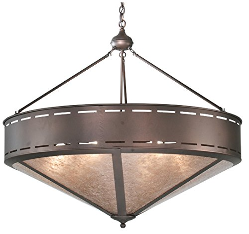(Meyda Tiffany 108713 Craftsman Prime Inverted Pendant, 42
