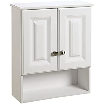 bathroom wall cabinets white. Design House 531715 Wyndham White Semi Gloss Bathroom Wall Cabinet with  2 Doors and Amazon com Sauder Soft Finish Kitchen Dining