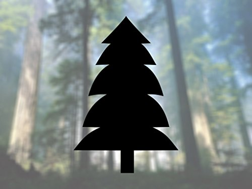 Firewood Tree Pine - AK Wall Art Tree Shape Spruce Pine Evergreen Nature - Vinyl Decal - Car Truck Laptop - SELECT SIZE